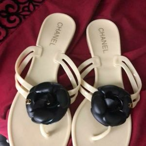 CHANEL Other - Chanel jelly Camelia sandals